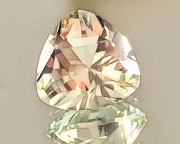 An Enchanting special cut Pale Green Amethyst Prasiolite