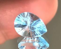Jewellery Grade Sky Blue Topaz Concave cut
