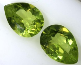 1.3CTS PERIDOT NATURAL FACETED PAIR TBG-2620