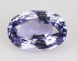 1.65 Cts Natural Purplish Blue Spinel Oval Tanzania