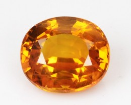 1.22 Cts Natural Corundum Sapphire Golden Yellow Oval Thailand