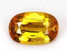 1.17 Cts Natural Corundum Sapphire Golden Yellow Oval Thailand