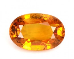 1.22 Cts Natural Corundum Sapphire Golden Yellow Oval Thailand