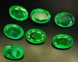 4.75 ct Natural Zambian Emerald 7 Pcs Lot~For Jewelry