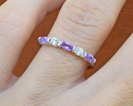 Amethyst 925 Sterling Silver Ring SIZE 5 US (SSR0284)