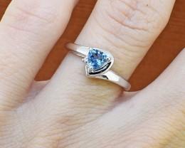 Natural Blue Topaz 925 Sterling Silver Ring #4 (SSR278)