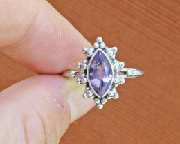 Amethyst 925 Sterling Silver Ring SIZE5 (SSR0111)