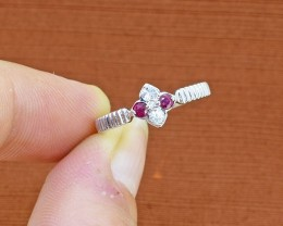 Ruby 925 Sterling Silver Ring SIZE 6  (SSR0072)