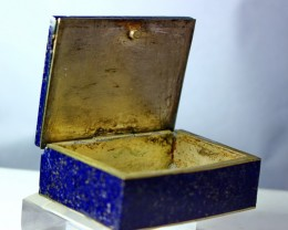 718 CT Natural lapis lazuli Carved Box Stone Special Shape