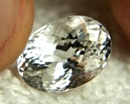 6.45 Carat Shimmering White VVS Goshenite Beryl - Superb
