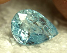4.75 Carat Incuded Aquamarine Pear - Beautiful