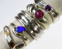 mixed gemstone deal silver rings PPP1606