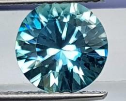 2.00cts, Blue Zircon,  Precision Cut,