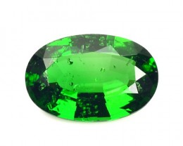 ~CERTIFIED~ 1.215 Cts Natural Chrome Tourmaline Top Green Oval Mozambique