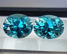 9.09cts, Blue Zircon,  Precision Cut,  Properly Orientated C axis, Calibrat