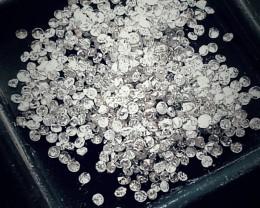 NATURAL WHITE DIAMOND-1MMSIZE--3CTW LOT