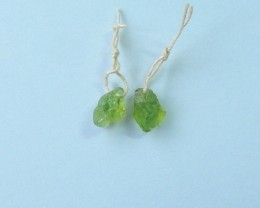 8.5ct Natural Peridot Earring Beads For Lady(17110705)