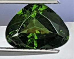 3.30cts, Green Zircon,  Bananna Leaf Green