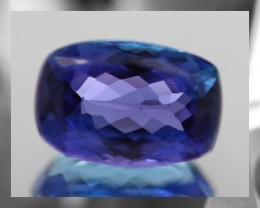 CERTIFIED 3.93cts, D Block Hue, VVS,Tanzanite,
