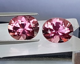 5.61cts, Pink Tourmaline,  Precision Cut, Open C axis