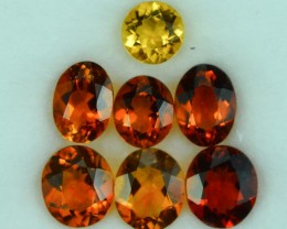 5.29 Cts 7Pc Beautiful Natural Citrine Parcel