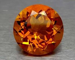 6.30 Crt Madeira Citrine Round Brilliant cut Gemstone   Jl144