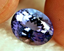 CERTIFIED - 7.56 Carat IF/VVS1 Purplish Blue Tanzanite - Superb