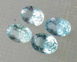 3.15 cts - Sparkling Luster - Oval Gem - Natural Fine Aquamarine - NR!!! 4