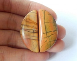 37ct Natural Multi-Color Picasso Jasper Cabochons(17110808)