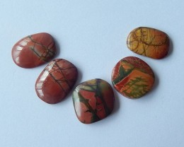 42ct Natural Multi-Color Picasso Jasper Cabochons(17110809)
