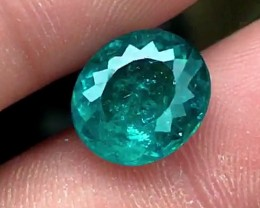 5.40 cts TEAL BLUE APATITE - AMAZING COLOR FROM BRAZIL