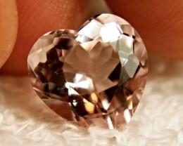 Stunning Fancy Heart Morganite, VVS1, Brazilian Beauty