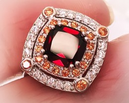 Mozambique Garnet CZ .925 Sterling Silver Ring No Reserve