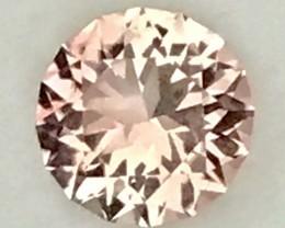 Custom Cut Glittering 1.7ct Peach Tourmaline, VVS