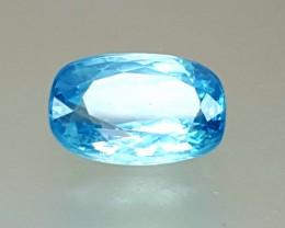 3.50 Crt Natural Blue Zircon Faceted Gemstone (R 96)