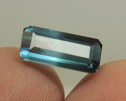 Very Beautiful Color Blue Tourmaline Bi Color Gemstone Collector's Gem