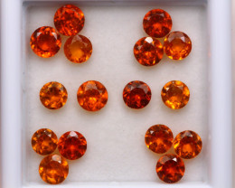 4.48ct Natural Hessonite Garnet Round Cut Lot S221