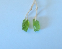7ct Natural Peridot Earring Beads For Lady(17110902)