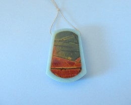 100.5ct Natural Multi-Color Picasso Jasper,Amazonite Intarsia Pendant Beads