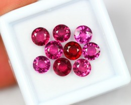 NR Lot 12 ~ 7.08Ct Natural VS Clarity Rhodolite Round Cut