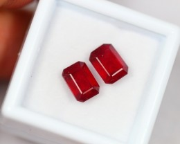 NR Lot 15 ~ 4.90Ct Natural Blood Red Color Ruby Pair