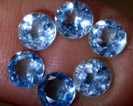 3.5CTS BLUE TOPAZ FACETED GEMSTONES PARCEL 6PCS CG-2344