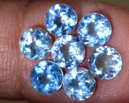 4CTS BLUE TOPAZ FACETED GEMSTONES PARCEL 7PCS CG-2345