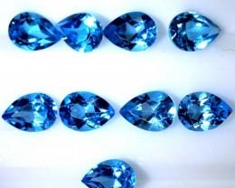 8.7CTS BLUE TOPAZ FACETED GEMSTONES PARCEL 10PCS CG-2350