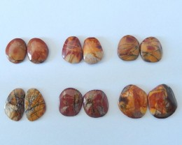 77.5ct Natural Multi-Color Picasso Jasper Cabochons(17111002)