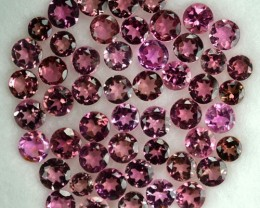 5.09 Cts Natural Sweet Pink Tourmaline 3 mm Round 51 Pcs Parcel