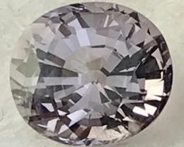 Custom Cut 1.60ct Oval Silver Grey Spinel - Myanmar