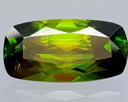 3.75 Crt Very  Rare Sphene Top Green With Multi Color Shades jls01