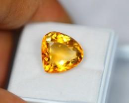 8.05Ct Natural Yellow Citrine Pear Cut Lot V43