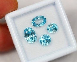 NR Lot 11 ~ 6.10Ct Natural VS Clarity Cambodian Blue Zircon